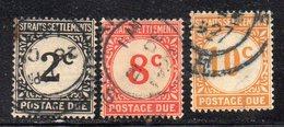 XP1906 - STRAITS SETTLEMENTS MALACCA 1924 , Segnatasse Tre Valoriusati (2380A) - Straits Settlements