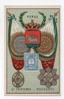 - CHROMO AU PRINTEMPS - V. ALBANEL, AUXERRE - Timbre, Monnaies, Drapeaux, Médailles PERSE - - Autres