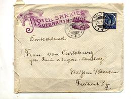 Lettre Cachet Soerabaya Sur Reine Entete Hotel - Indie Olandesi