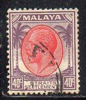 XP2187 - STRAITS SETTLEMENTS MALACCA 1936 , Yvert  N. 215  Usato (2380A) CA Multiscript - Straits Settlements