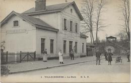 VILLECRESNES -  LA GARE - ANNEE 1915 - Villecresnes