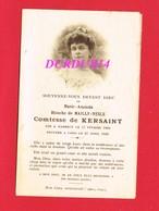 Avis De Décès  Titre De Noblesse Mme Marie De MAILLY NESLE Comtesse De KERSAINT & MARBEUF - Décès