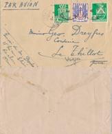 J47 - MARCOPHILIE - Enveloppe Par Avion - Algérie France - 1944 - France