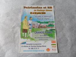 FOLDER PUBL /  PATRIMOINE ET BD 2009 / DESSIN PASTICHE DE TINTIN ET NATACHA PAR COURTOIS - Objets Publicitaires