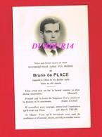 Avis De Décès  Titre De Noblesse M. Bruno De PLACE - Décès