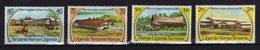 KUT Kenya Uganda Tanzania 1975 Game Lodges Yv 285/288 MNH ** - Kenya, Uganda & Tanzania