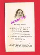Avis De Décès De MÈRE SAINT BASILE Marthe RAFFLÉ & GOUAREC 1943 Religieuse Soeur - Décès