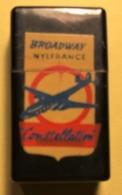 CONSTELLATION - AVION - CHEMISE BROADWAY NYLFRANCE - DEBUT ANNEES 1960 - BRIQUET (3 Scans) - Briquets