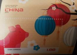 O) 2019 CUBA - CARIBBEAN, WORLD FILATELIA EXPO -PIG, MNH - Unused Stamps