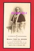 Avis De Décès De M. L'Abbé Eric MERCIER & Notre Dame Du Puy 1935 Religieux Aumonier - Décès