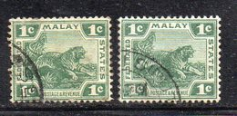 XP2485 - STRAITS SETTLEMENTS MALACCA 1904 , Yvert  N. 29+29aw (crown Right MultiCA) Usati (2380A) - Straits Settlements