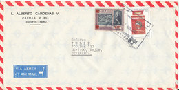 Peru Air Mail Cover Sent To Denmark 17-8-1982 With Topic Stamps - Peru