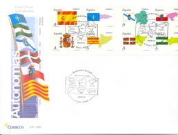 """A Le Faciale FDC 2009 Espagne """" Autonomias """" Edifil 4446/53 Bloc - Briefe"""