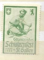 St. Gallen -Eidgenössisches Schutzenfest 1904 - Erinnophilie