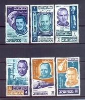 Jordan 1966 - Astronauts- Stamps 6v Complete Set - MNH**- Excellent Quality - Jordanien