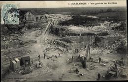 Cp Massangis Yonne, Vue Générale Des Carrières, Steinbruch - France