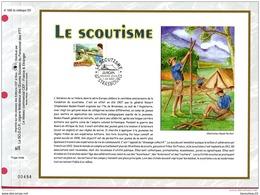 DOCUMENT PHILATÉLIQUE (Réf : B 957) LE SCOUTISME  67 STRASBOURG - Neufs