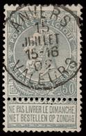 """COB 53 - Oblitération CONCOURS - """"ANVERS VALEURS"""" - 1893-1900 Thin Beard"""