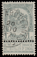 "COB 53 - Belle Oblitération - ""ARQUENNES"" - 1893-1900 Thin Beard"