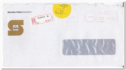 Rijswijk 1985, Aangetekende Brief, Schouten/Giessen - Period 1980-... (Beatrix)
