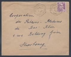 811 Gandon Seul Tarif 10F Avant Dernier Jour Du Tarif Lettre Niederhaslach Bas Rhin Hexagone Agence Postale 4 1 1949 - Marcophilie (Lettres)