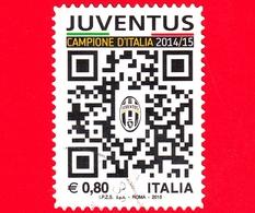 ITALIA - Usato - 2015 - Juventus Campione D'Italia - Calcio - 0,80 - Stemma Della Juventus E QR-Code - 2011-...: Oblitérés