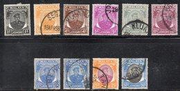 Q193 - JOHORE MALAYSIA 1949 , Dieci Valori Usati (2380A) - Johore