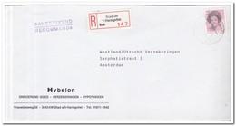 Stad Aan 't Haringvliet 1984, Aangetekende Brief Naar A'dam, Hybelon, Onr. Goed, Verz, Hypotheken - Period 1980-... (Beatrix)