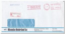 Heeswijk Dinther 1986, Aangetekende Brief, Manudax Nederland Bv, Microcentrum Van Nederland - Period 1980-... (Beatrix)