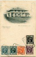 FERNANDO POO CARTE POSTALE -FERNANDO POO -CASA DE EMPLEADOS CIVILES AVEC OBLITERATION ? JUL 1905 STA. ISABEL DE......... - Fernando Poo