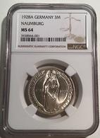 1928 A 3 Reichsmark Naumburg / Saale. NGC MS64. Deutsches Reich Weimar J.333 (Germany Silber Coin Gedenkmünze Monnaie - 3 Mark & 3 Reichsmark