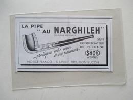 MONTLUCON  (03) Fabrique De PIPES  Ets LAVILLE  - Modèle SHOK NARGHILEH -  Coupure De Presse De 1936 - Bruyerepfeifen
