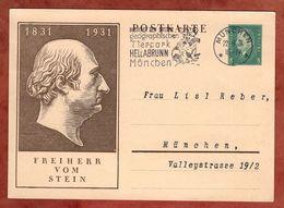 P 193 Ebert + Freiherr Vom Stein, MS Junger Loewe Tierpark Hellabrunn Muenchen 1931 (90961) - Deutschland