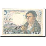 France, 5 Francs, Berger, 1943, 1943-07-22, SUP, Fayette:5.2, KM:98a - 1871-1952 Anciens Francs Circulés Au XXème