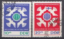 DDR 1965 Mi.nr. 1122-1123 Weltfriedenskongress  OBLITÉRÉS-USED-GEBRUIKT - [6] République Démocratique
