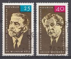DDR 1965 Mi.nr. 1121+1124 Geburtstag Von ...  OBLITÉRÉS-USED-GEBRUIKT - [6] République Démocratique