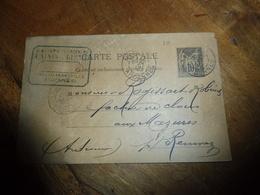 CPA-Devis  D'un FABRICANT DE POINTES (clous) En 1890 Exp. Rogissart Tampon CLOUTERIE-FERRONNERIE à Mezierres (Ardennes - Artisanat