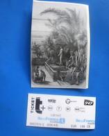 PARIS MUSÉUM NATIONAL D'HISTOIRE NATURELLE SERRES DES ORCHIDÉES JARDIN DES PLANTES +TICKET DE METRO BUS PARISIEN SNCF - Tickets D'entrée