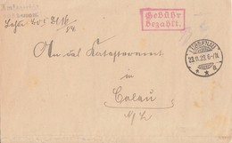 DR Brief Gebühr Bezahlt Lübbenau 23.11.23 Gel. Nach Calau - Deutschland