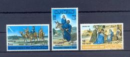 Jordan 1966 -  Christmas - Donkey Camels - Stamps 3v Complete Set - MNH**- Excellent Quality - Jordanien