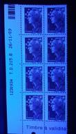 VARIÉTÉS COINS 2008 N°4187 MARIANNE DE BEAUJARD ROUGE 8 TIMBRES T.D. 215.B  26 / 11 / 09 DEUX BARRE PHOSPHORESCENTE NEUF - Dated Corners