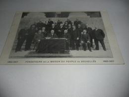 Bruxelles:fondateurs De La Maison Du Peuple De Bruxelles - Petits Métiers