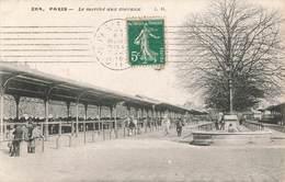 75 Paris Le Marché Aux Chevaux Cheval Bestiaux 13e Arrondissement Cpa Cachet 1912 - District 13