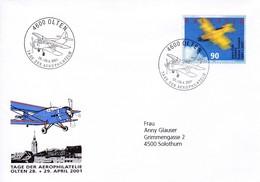 Tag Der Aerophilatelie 4600 Olten 28.+29. April 2001Mi: 1747 / Mi: 1016 Aero - Clup Schweiz - Poste Aérienne