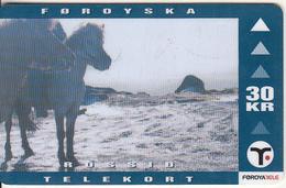 FAROE ISL. - Horses(24), Tirage 25000, 10/99, Used - Faeroër