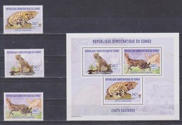 Kongo (Kinshasa) - 2003 Wildkatzen Wildcats ** - Big Cats (cats Of Prey)