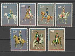 Equatorial Guinea 1976 Cavalry Uniforms Set Of 7 MNH - Militares