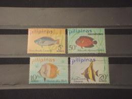 FILIPPINE - 1972 PESCI 4 VALORI - NUOVI(++) - Filippine