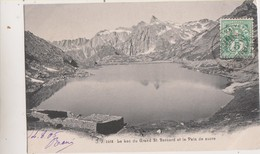 Sp- SUISSE - Le Lac Du Grand St Bernard Et Le Pain De Sucre - Timbre - Cachet - 1905 - VS Wallis