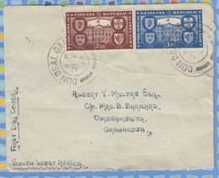 Ireland On FDC Cover South West Africa SWA - 1949 - Republic Leinster House Dublin - 1949-... Republic Of Ireland